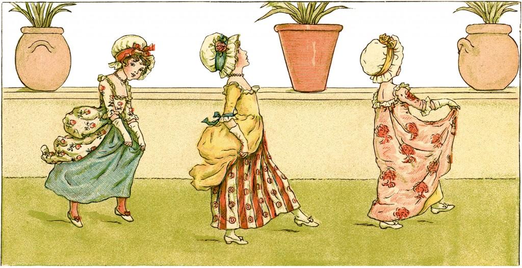 Vintage Greenaway Girls Image