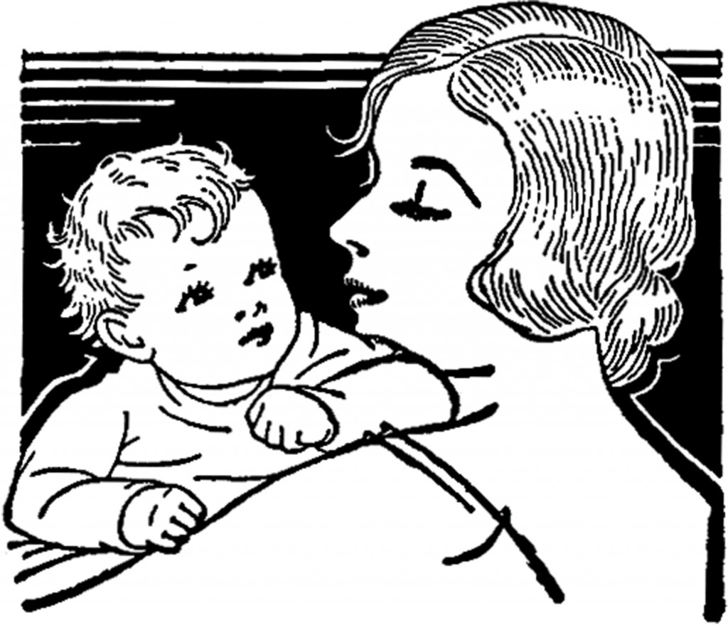 Vintage Mother's Day with Baby Image