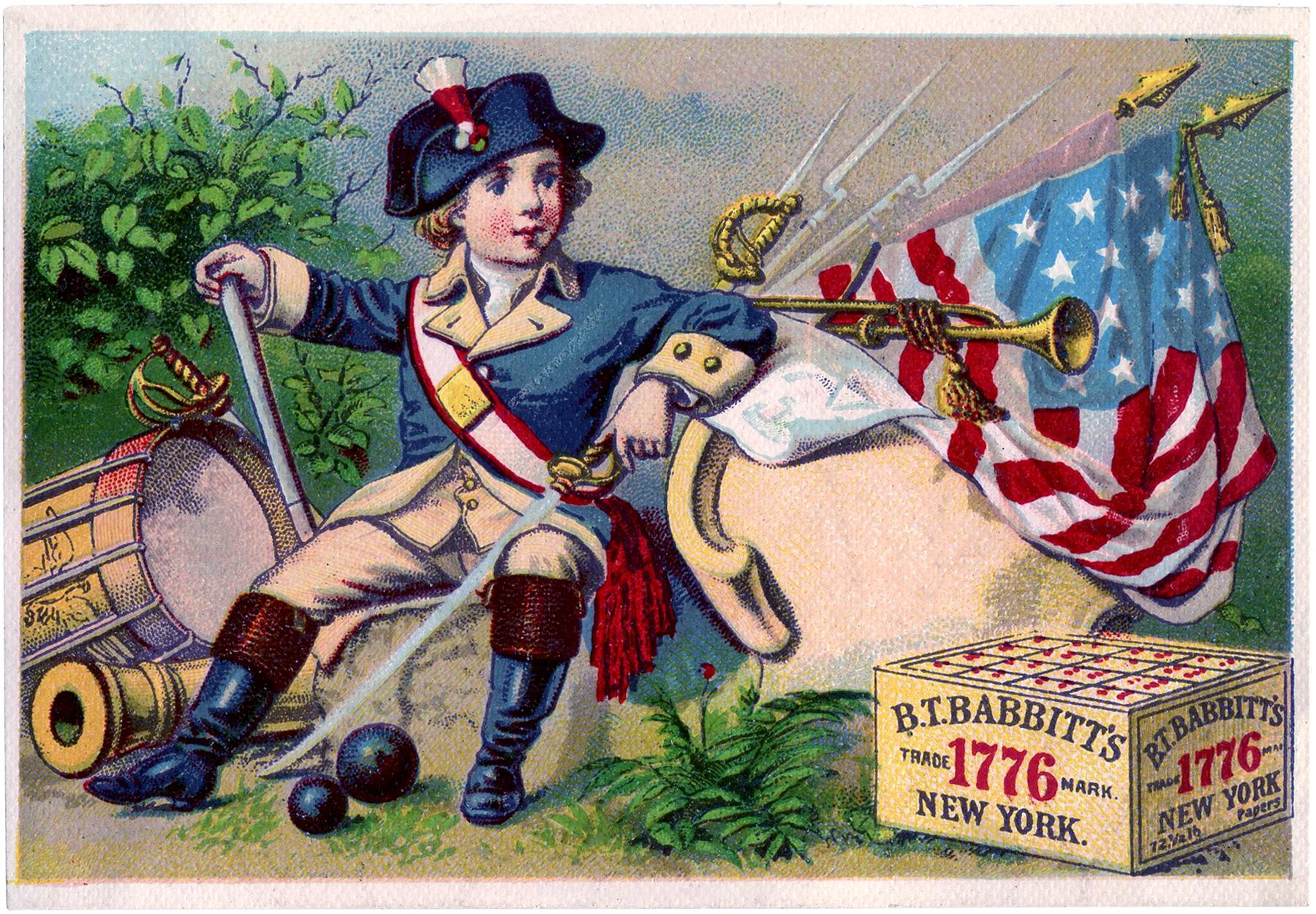 Cute Vintage Patriotic Download! - The Graphics Fairy Vintage Americana Graphics