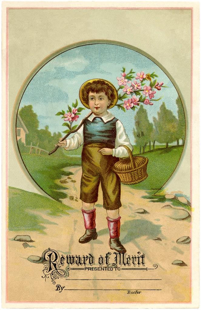 Vintage Reward of Merit Card