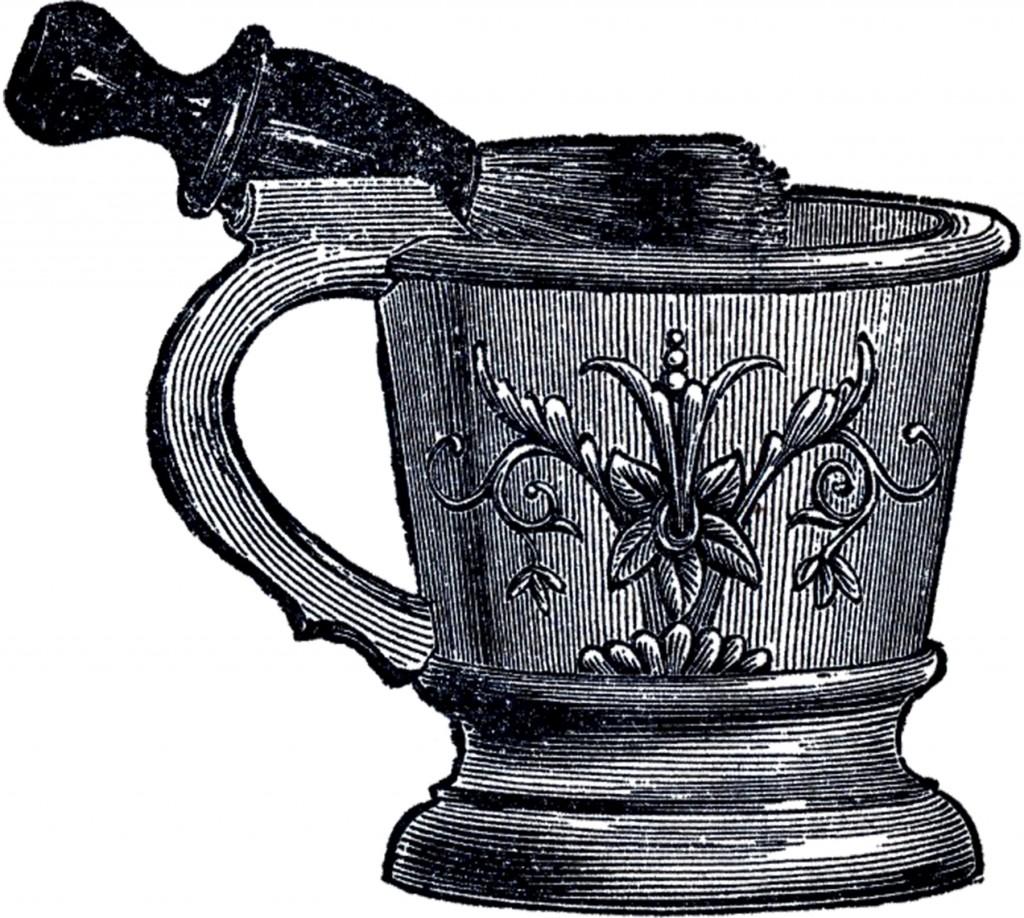 Vintage Shaving Mug Image