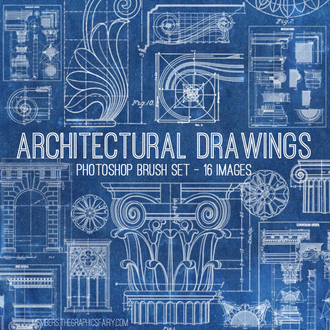 Awesome architectural diagrams bundle tgf premium the graphics archdrawingsbrushesgraphicsfairy malvernweather Choice Image
