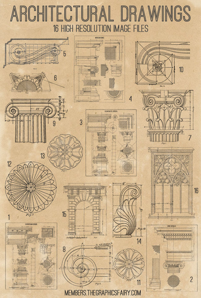 architectural_drawings_image_list_graphicsfairy