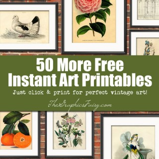 50 (More) Free Wall Art Printables!