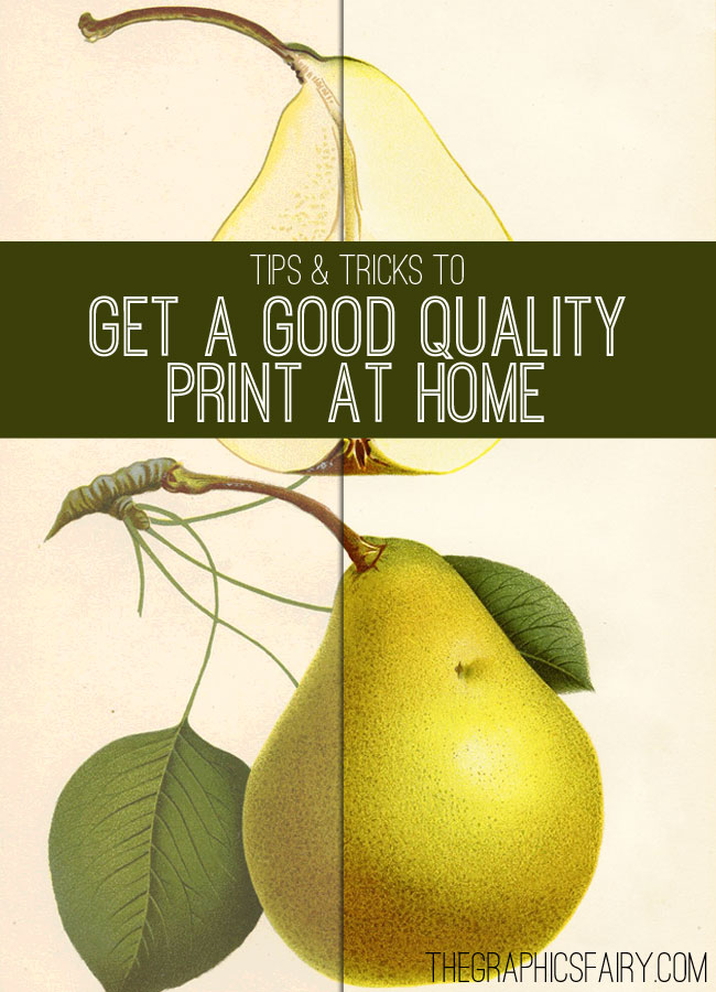 Tips to Get a Great Quality Print of Your Images // The Graphics Fairy
