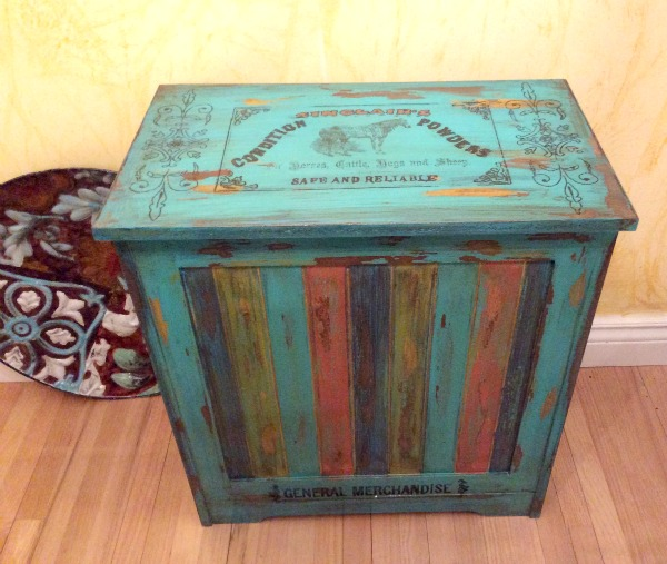 For This Lovely DIY Farm Laundry Basket, Rose Painted It With Several  Different Colors And Distressed It To Give It A Worn Look.