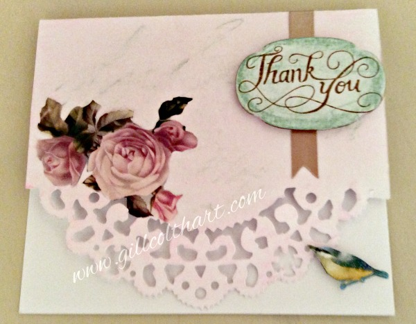 Handmade Doily Thank You Card Reader Feature The Graphics Fairy