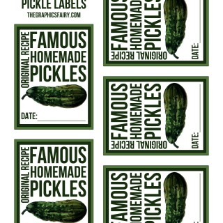 Free Pickle Canning Labels!