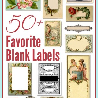 50+ Best Blank Labels – Vintage!