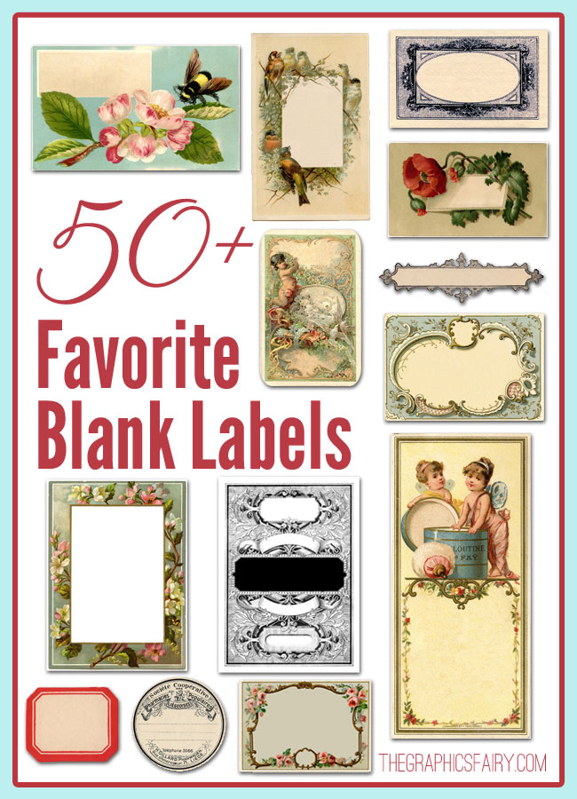 50+ Favorite Blank Labels  //  The Graphics Fairy