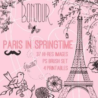 Paris in Springtime Kit – Hand Drawn! TGF Premium