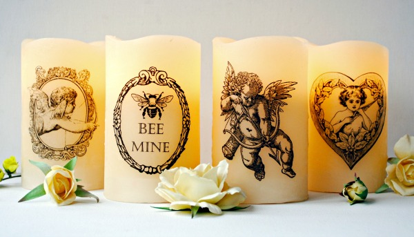 04 - Wayfair - Handmade Valentines Printed Candles
