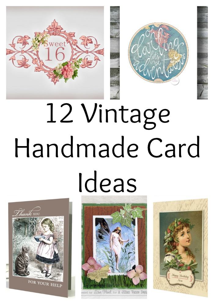 12 Vintage Handmade Card Ideas