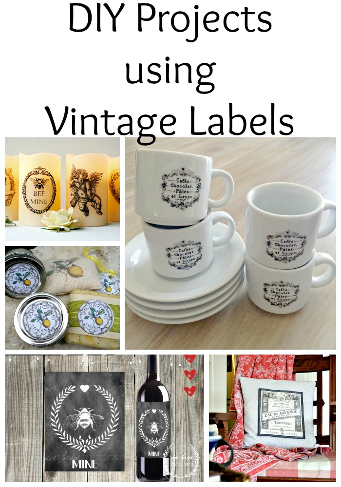 14 DIY Projects Using Vintage Labels