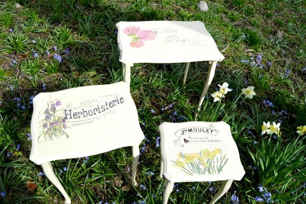 14 - Paula - Spring Flower Nesting Tables