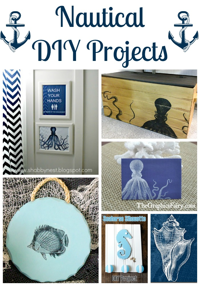 18 nautical diy projects the graphics fairy ForNautical Projects