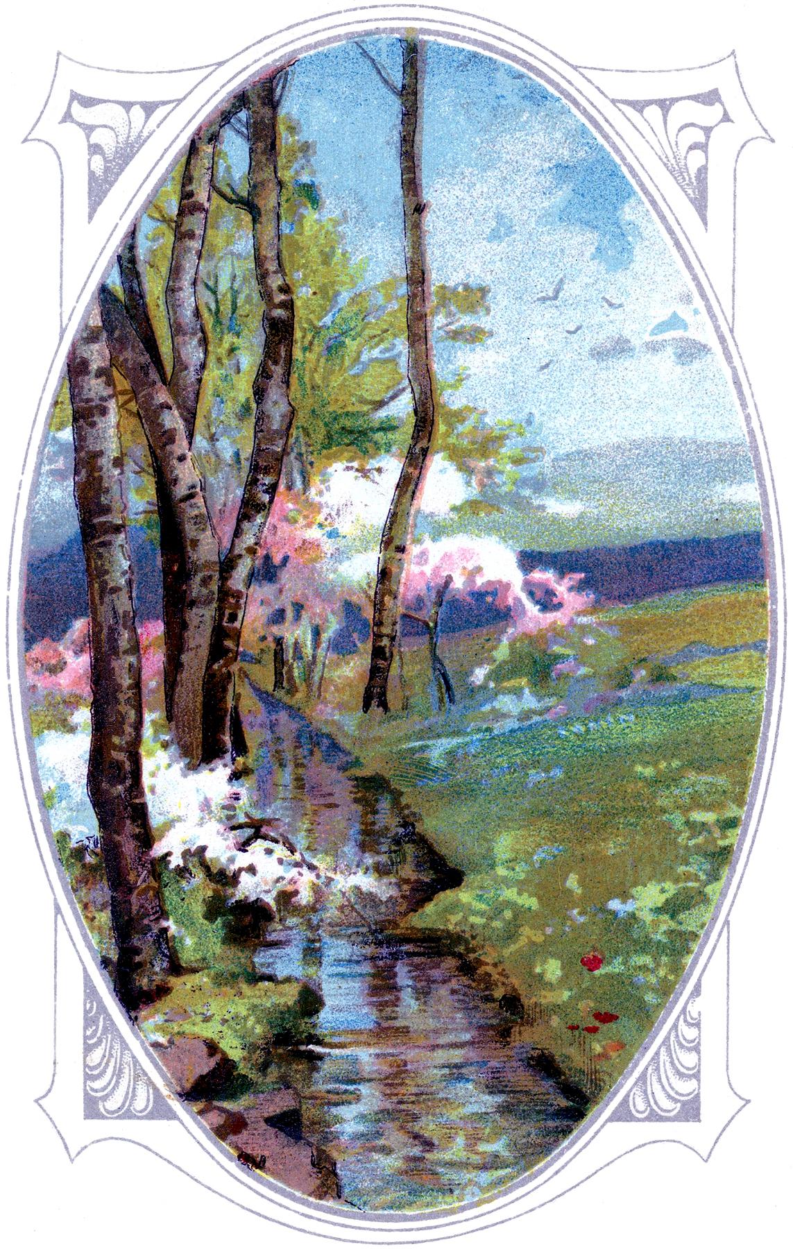 Pretty Landscape Image The Graphics Fairy