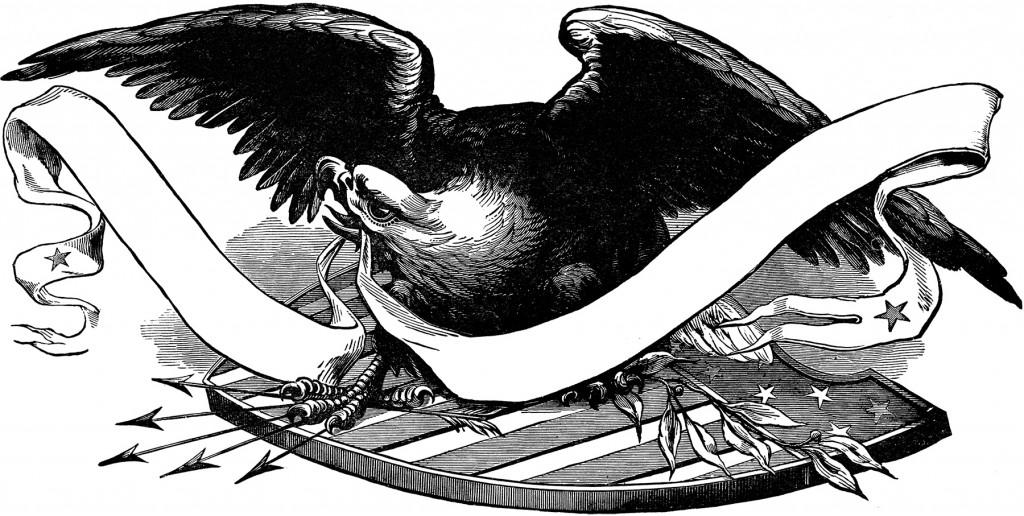 Public Domain Patriotic Eagle Image