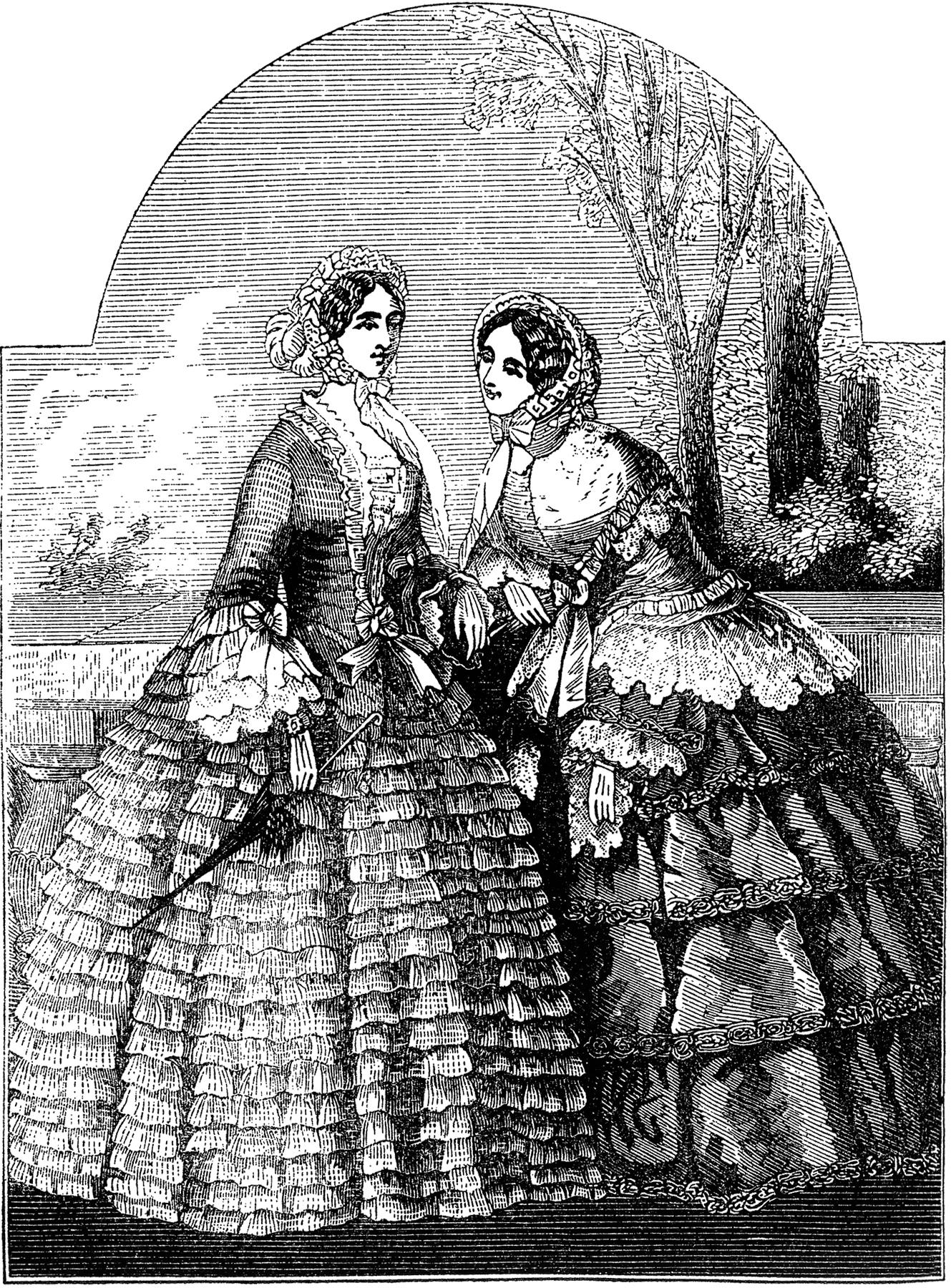 Victorian Fashion Ladies Image! - The Graphics Fairy