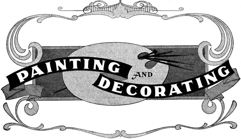 Vintage Decorating Sign Image