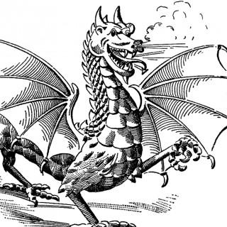 Vintage Dragon Image!