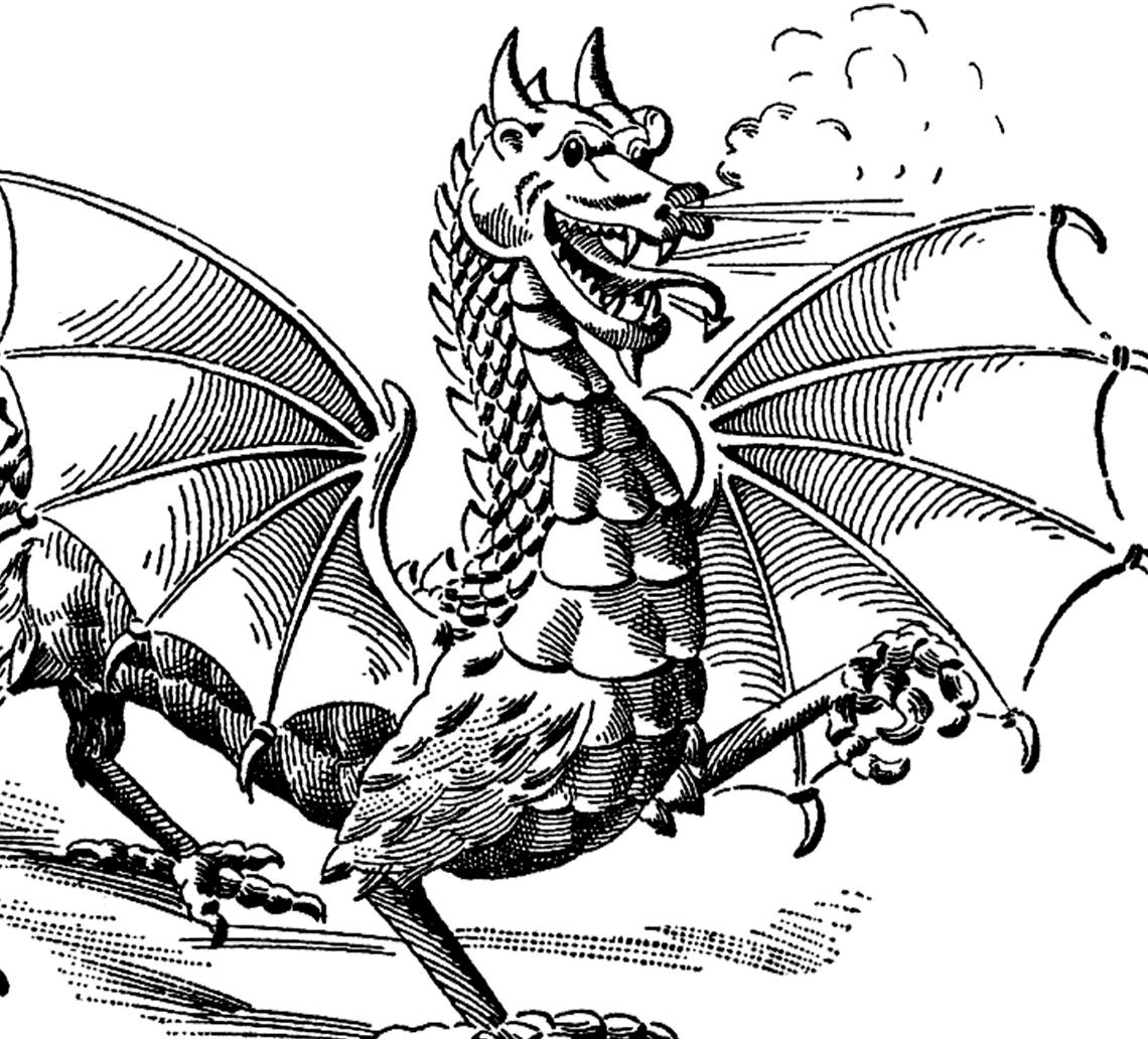 Vintage Dragon Image! - The Graphics Fairy