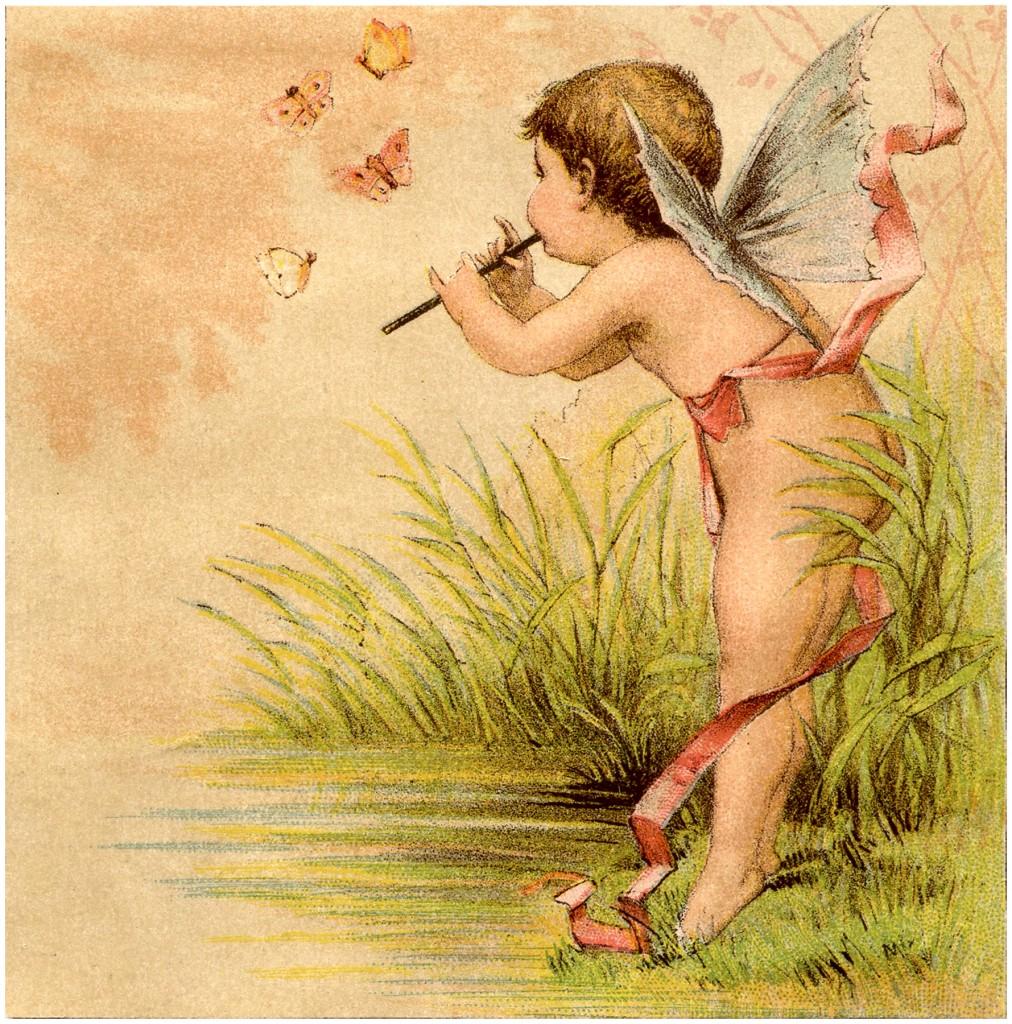 Vintage Fairy Baby Image