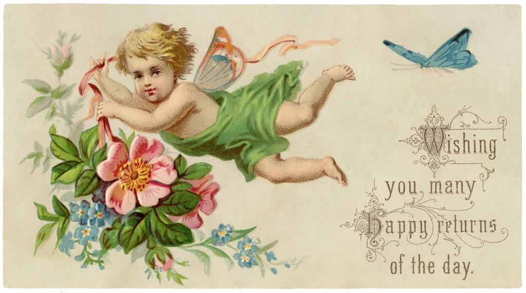 Vintage Fairy Child Image