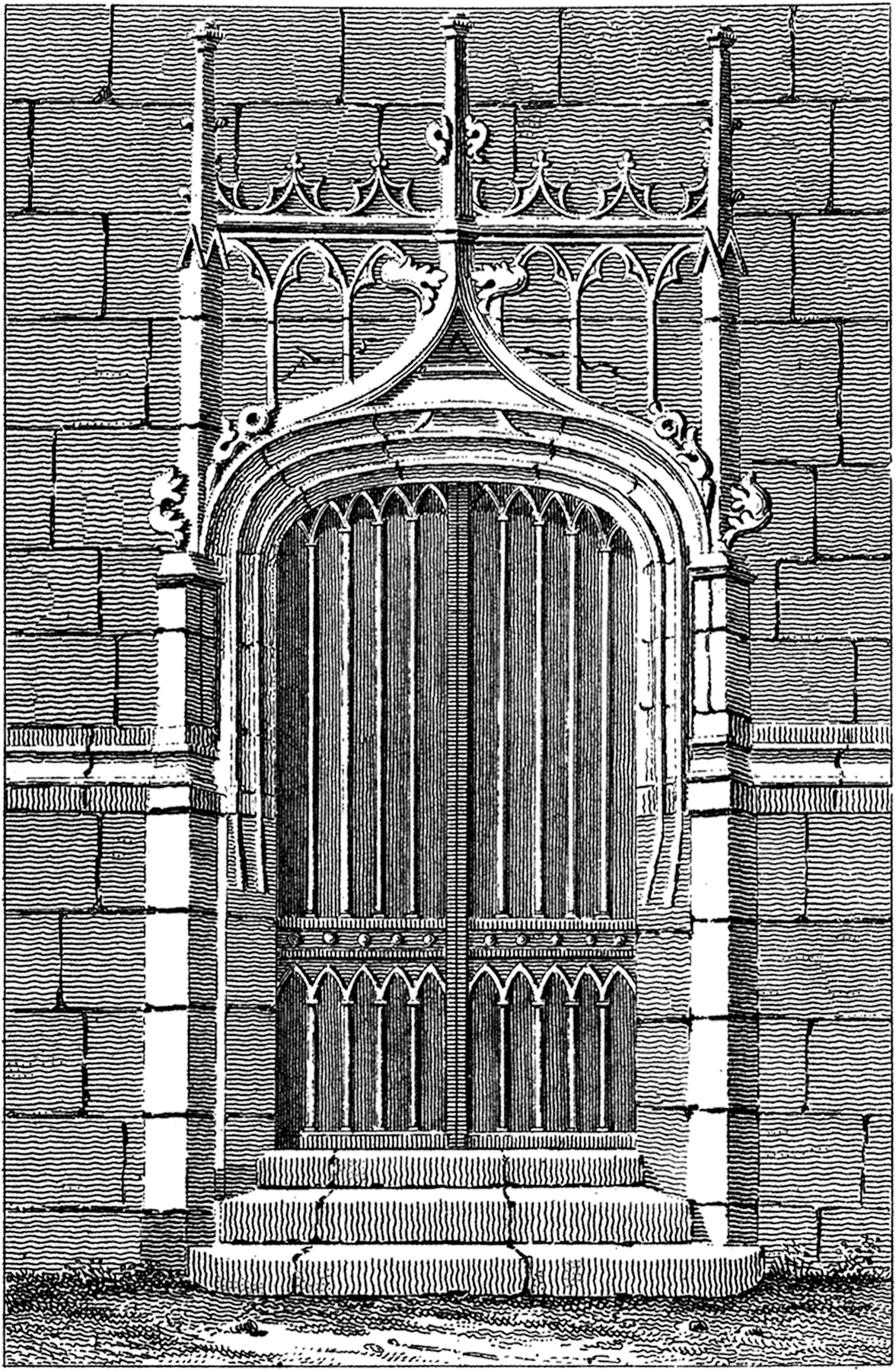 Antique Gothic Door Image  sc 1 st  The Graphics Fairy & Antique Gothic Door Image! - The Graphics Fairy