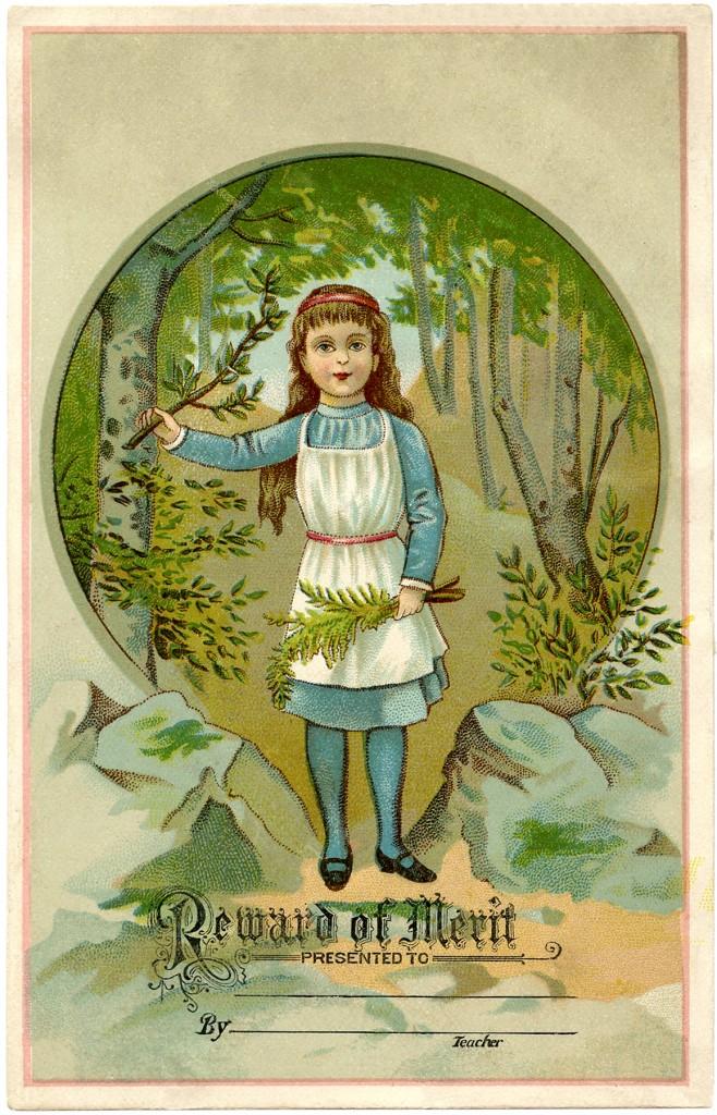 Vintage Reward of Merit Girl