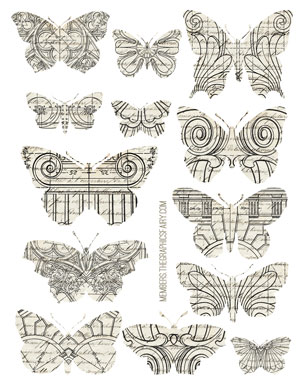 butterfly_architectural_collage_graphicsfairy