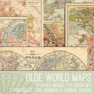 Olde World Maps Kit