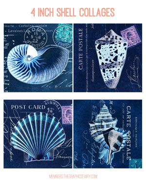 shell_collage_4inch_blue_graphicsfairy