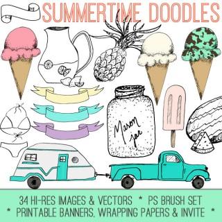 Summertime Doodles Kit