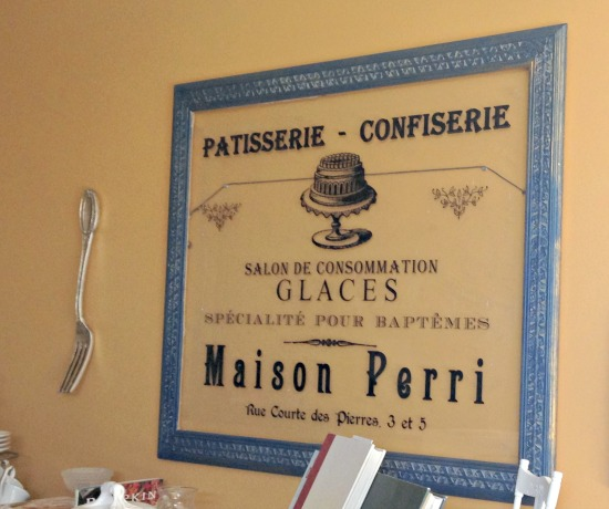 Simple  White Elephant to Home French Bakery Sign