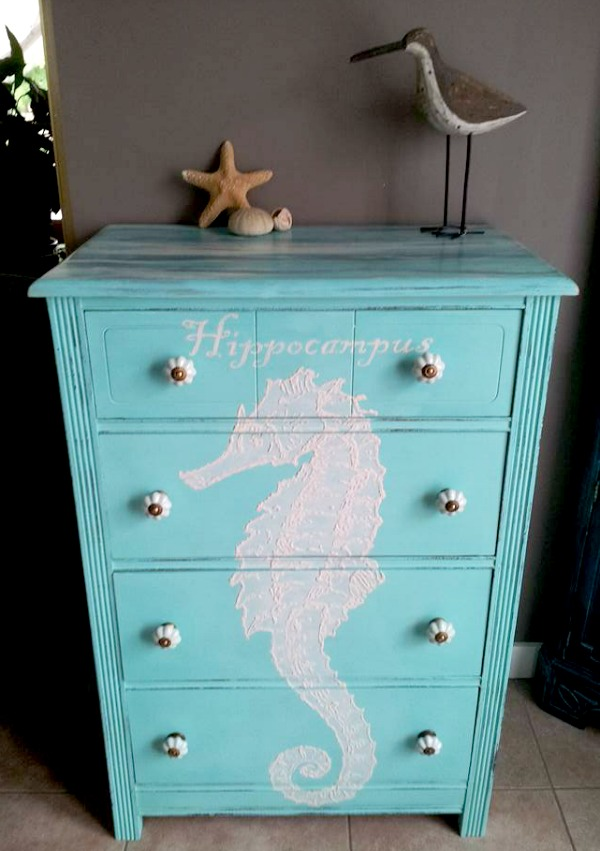 Hand Painted Beachy Dresser Reader Feature The