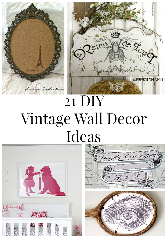 . 21 DIY Vintage Wall Decor Ideas   The Graphics Fairy