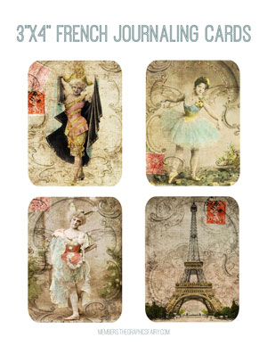 3x4_French_journal_cards_graphicsfairy