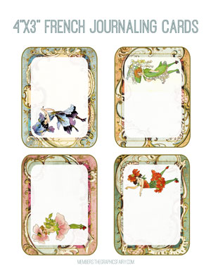 4x3_French_journal_cards_graphicsfairy