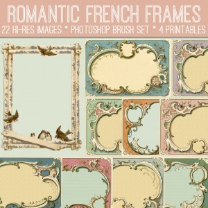 Romantic French Frames Kit