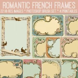 Romantic French Frames Kit