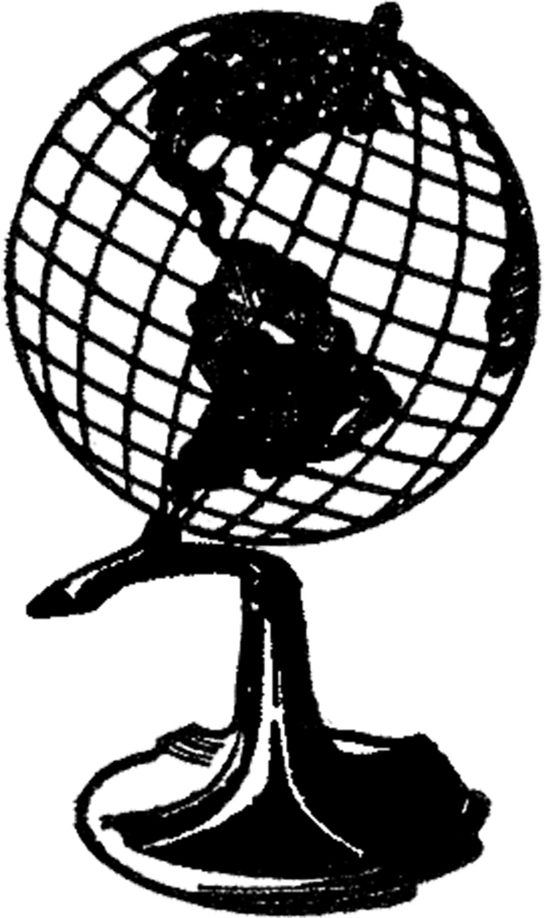 Retro Globe Image! - The Graphics Fairy