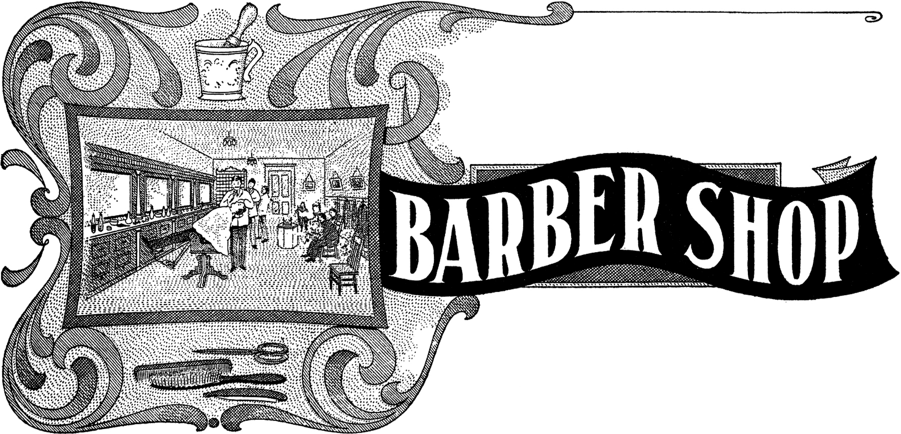 Antique barber shop sign - Vintage Barber Shop Sign Image Graphicsfairy