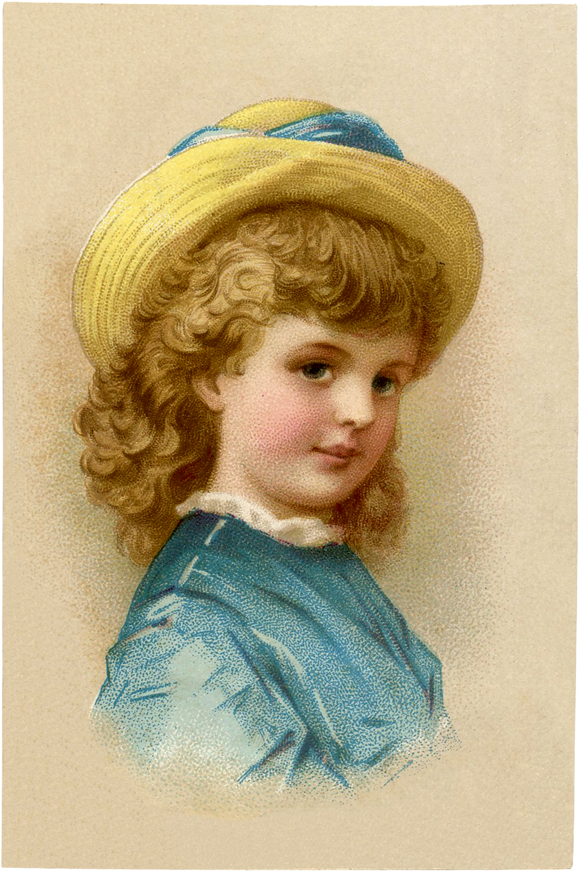 Vintage Child with Hat Image