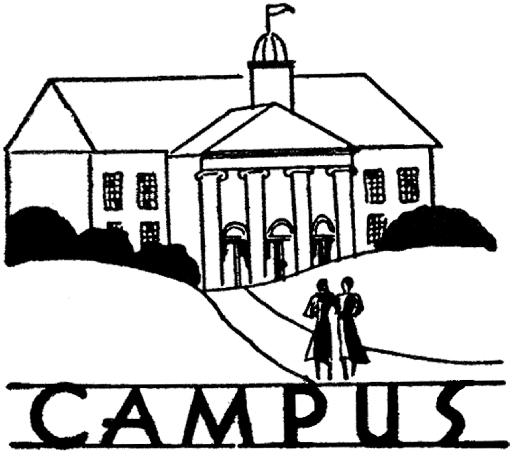 Vintage College Campus Image! - The Graphics Fairy