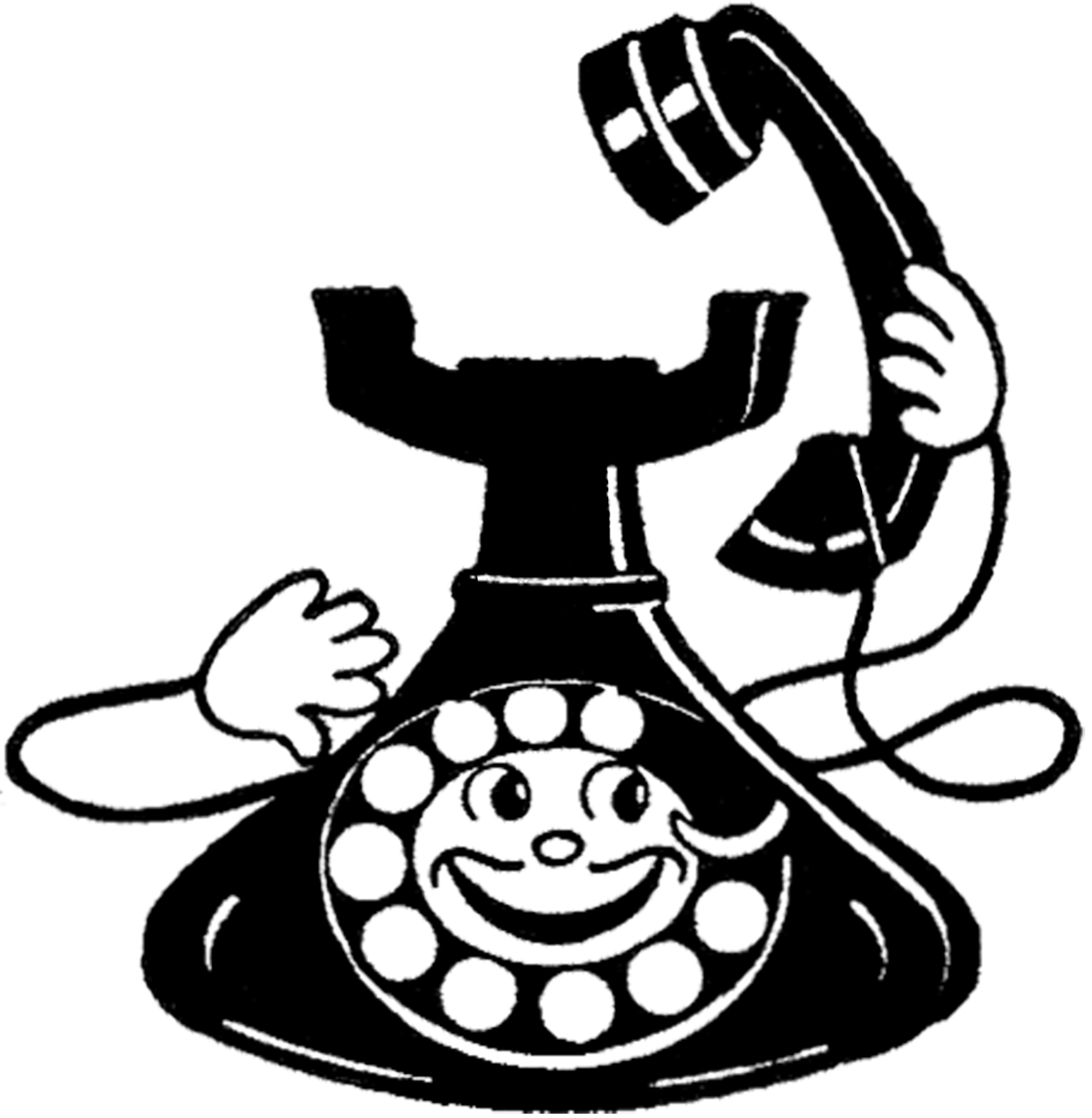 vintage funny phone image  the graphics fairy clipart phone number clipart phone number