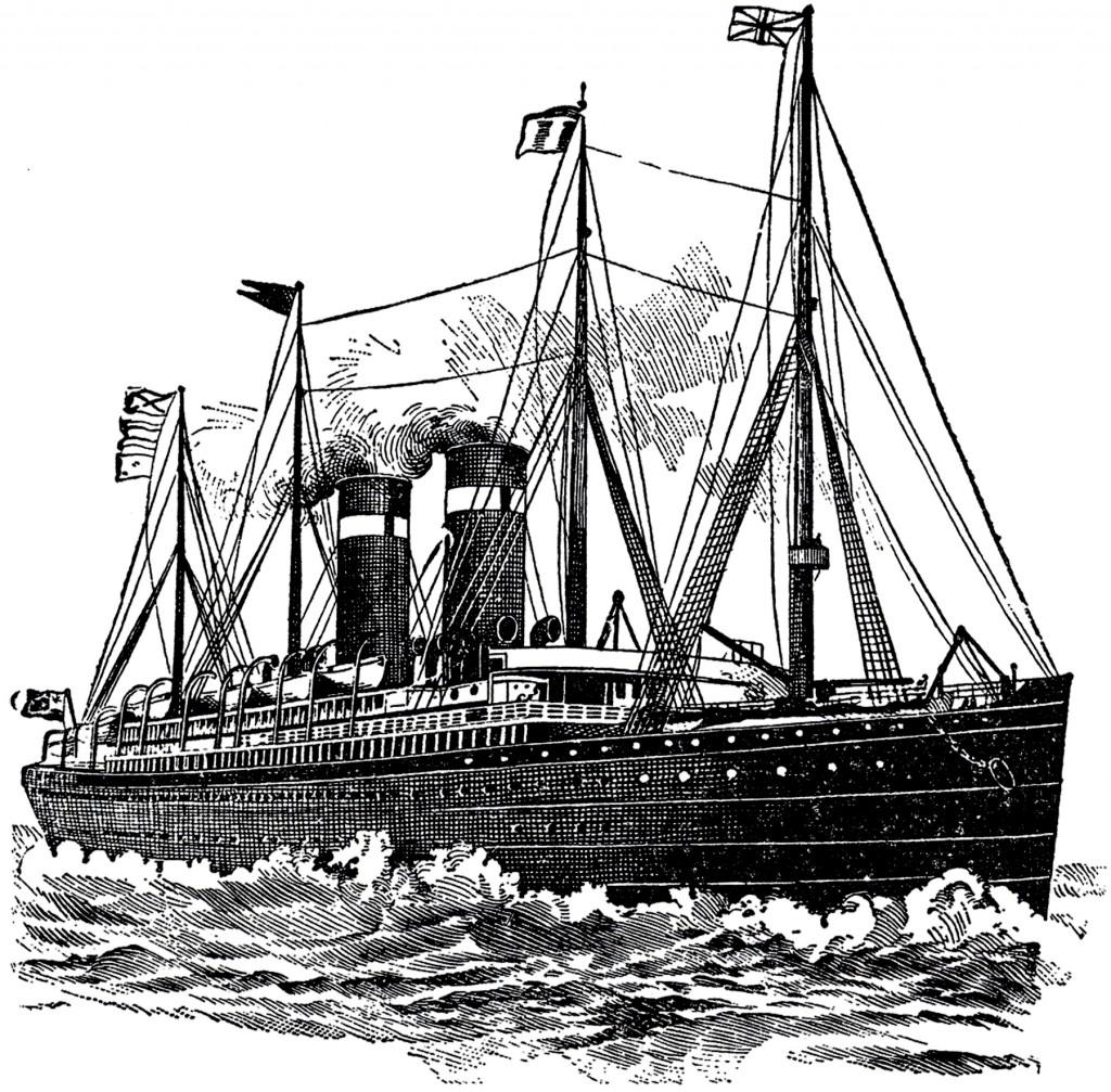 Vintage Ocean Liner Image