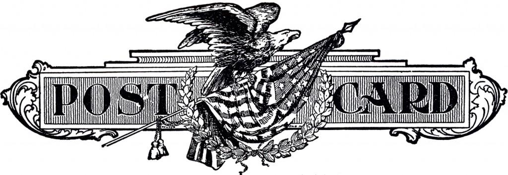 Vintage Patriotic Postcard Logo
