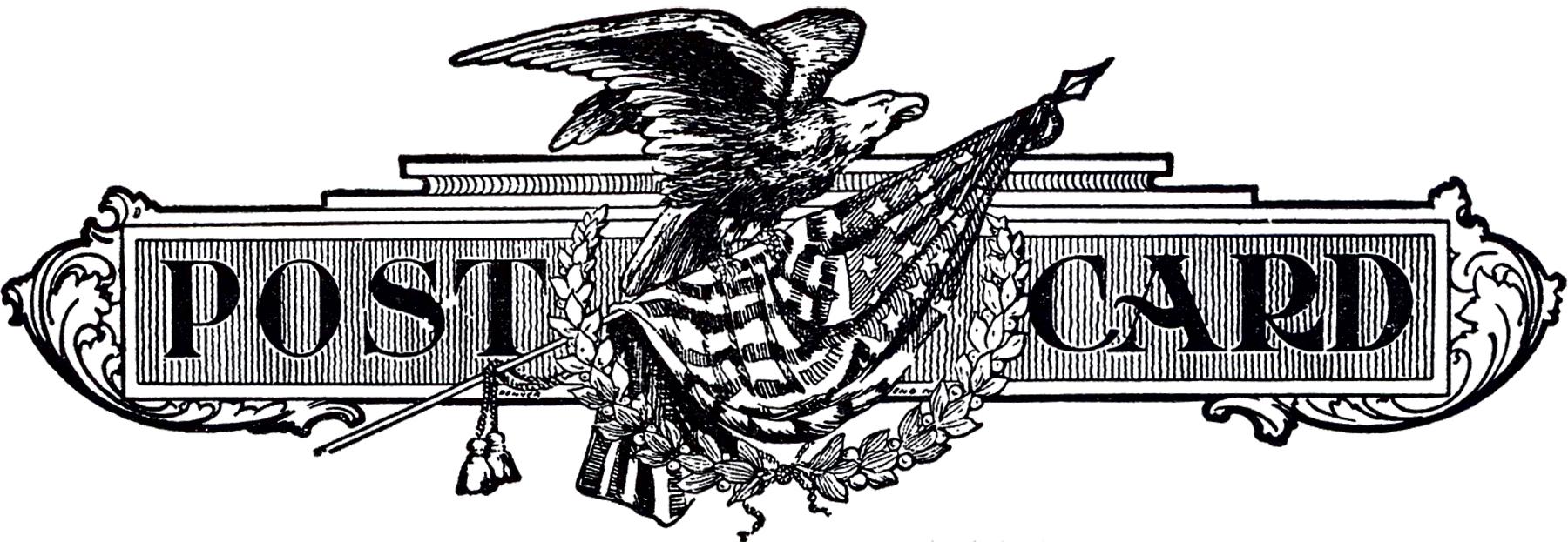 Vintage Patriotic Postcard Logo!
