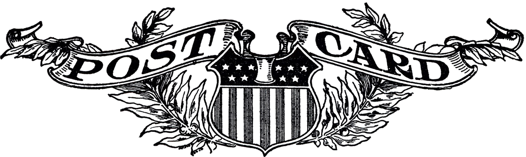 Vintage Postcard Logo Image